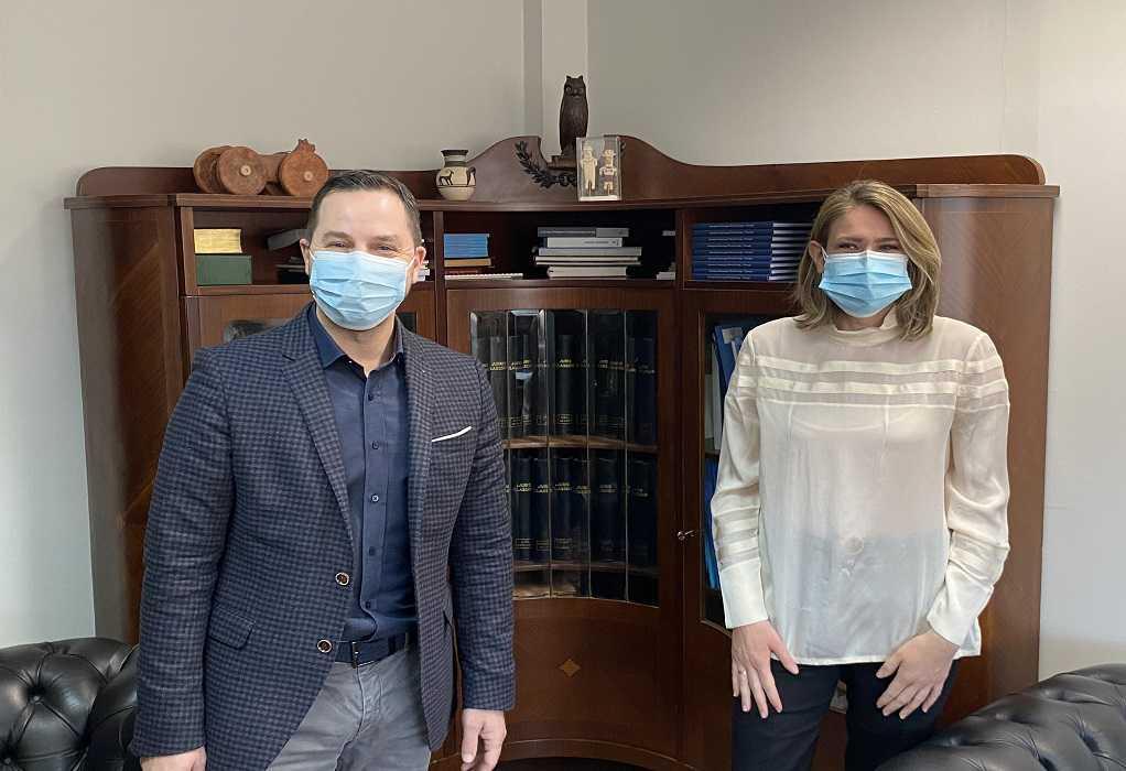 Συνάντηση Α. Ευθυμίου με τον πρόεδρο του Δικηγορικού Συλλόγου Θεσσαλονίκης