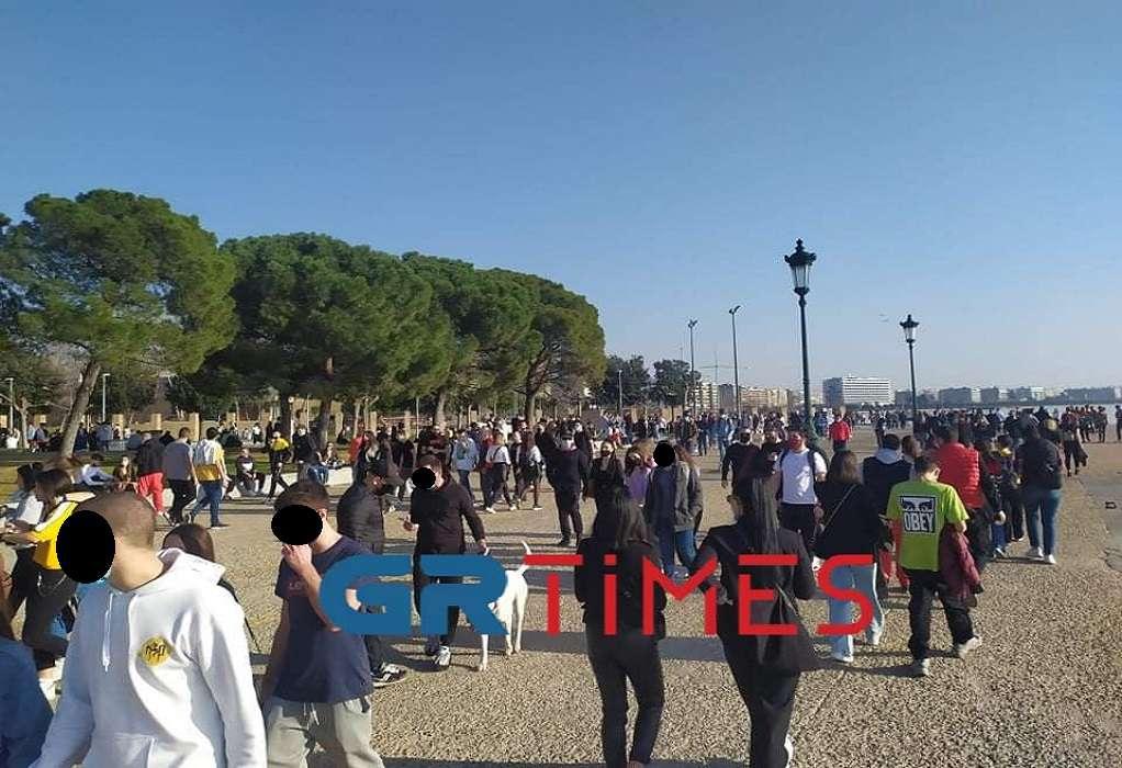 «Ξεχύθηκαν» οι Θεσσαλονικείς να προλάβουν την… απαγόρευση (ΦΩΤΟ+VIDEO)