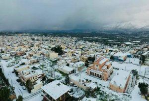 Ηράκλειο: Στα λευκά οι δήμοι Αρχανών -Αστερουσίων, Βιάννου και Μινώα Πεδιάδος