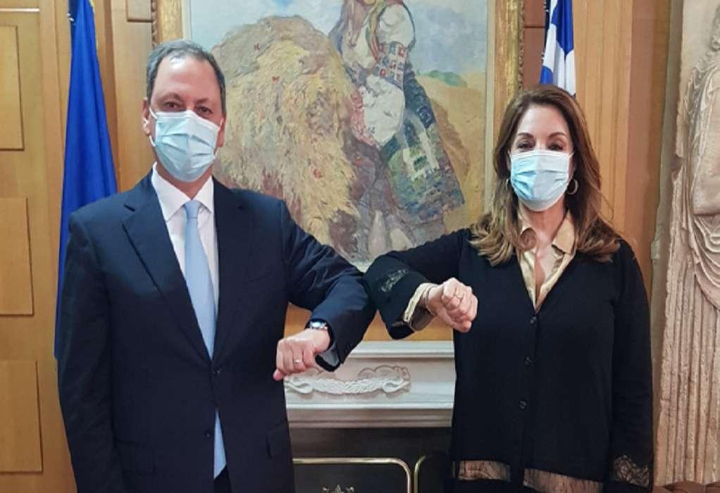 Συνάντηση Σ. Λιβανού με την πρόεδρο του ΕΟΤ, Α. Γκερέκου