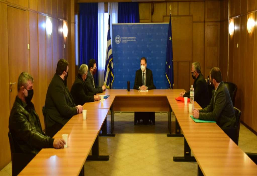 Συνάντηση Σ. Λιβανού με την Οργάνωση Αμπελουργών – Ελαιοπαραγωγών Κρήτης