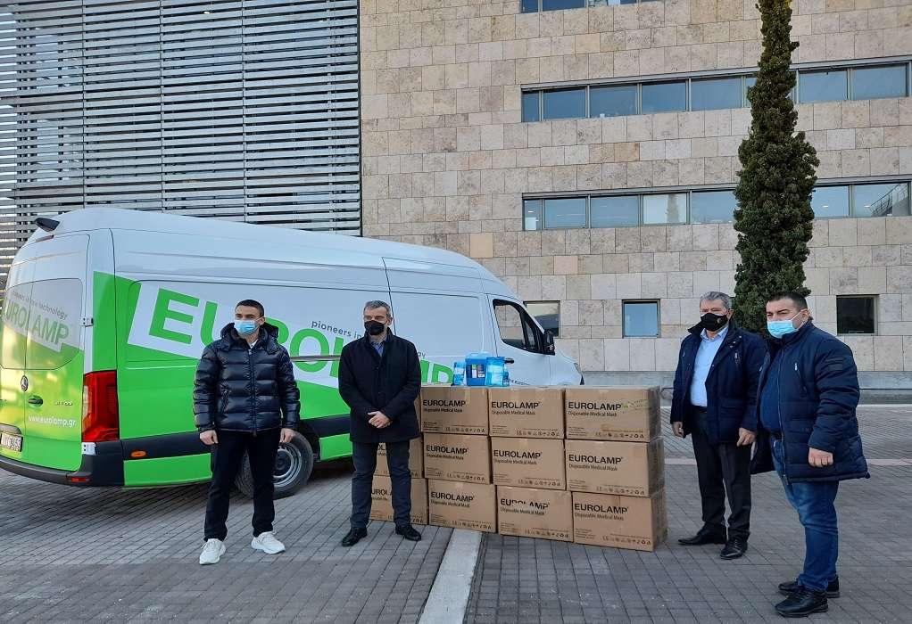 """Θεσσαλονίκη: Δωρεά 100.000 μασκών και αντισηπτικών στον Δήμο από την """"Eurolamp ΑΒΒΕ"""""""