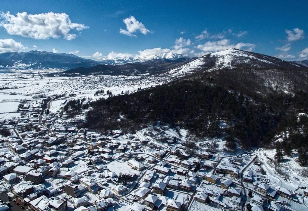 Χειμωνιάτικες εικόνες από το χιονισμένο Νευροκόπι και την Πρώτη Σερρών (VIDEO)