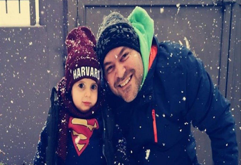 Ο μικρός Παναγιώτης Ραφαήλ περπάτησε στο χιόνι! (ΦΩΤΟ)