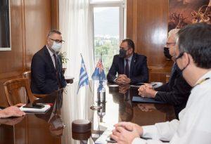 Συνάντηση Ν. Παναγιωτόπουλου με τον Πρέσβη της Αυστραλίας