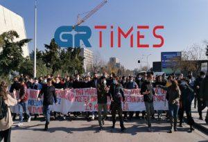 Θεσ/νίκη: Πορεία διαμαρτυρίας φοιτητών (ΦΩΤΟ+VIDEO)
