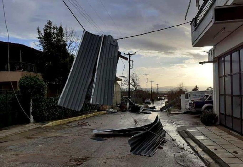 Ανεμοστρόβιλος σάρωσε χωριά στο Δήμο Εμμ. Παππά στις Σέρρες
