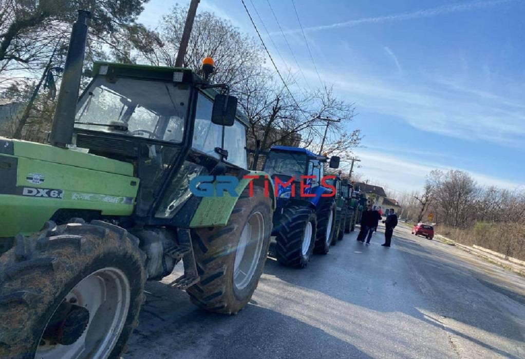 Συλλαλητήριο αγροτών με τρακτέρ στις Σέρρες (ΦΩΤΟ)