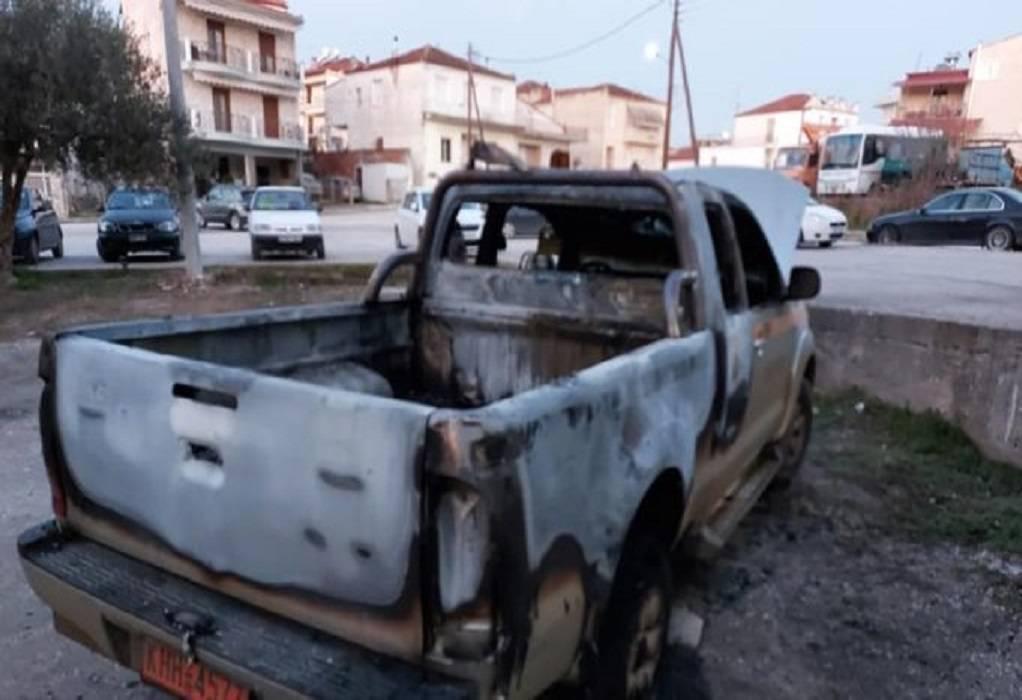 Δ. Βισαλτίας: Έριξαν γκαζάκια σε όχημα της Πολιτικής Προστασίας