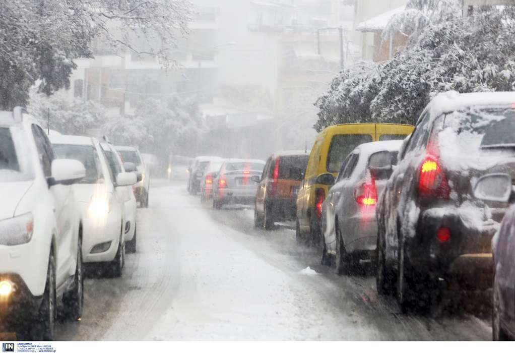 Κακοκαιρία: Απαγόρευση κυκλοφορίας φορτηγών και στην ΕΟ Αθηνών- Κορίνθου