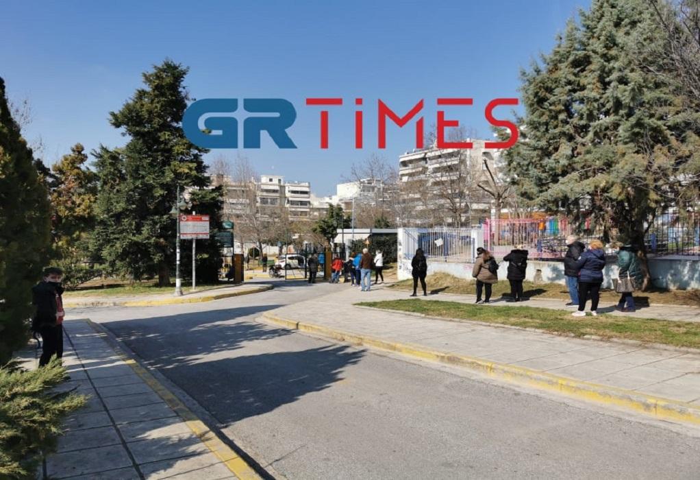 Θεσσαλονίκη: Ουρές για rapid test στον Εύοσμο (ΦΩΤΟ+VIDEO)