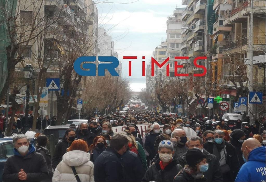 Πορεία διαμαρτυρίας για την εκκένωση του ΑΠΘ (ΦΩΤΟ+VIDEO)