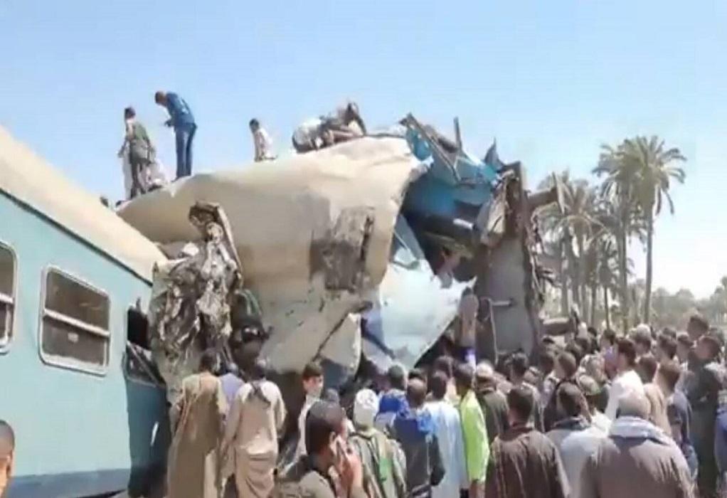 Αίγυπτος: Δεκάδες νεκροί έπειτα από σύγκρουση τρένων (VIDEO)