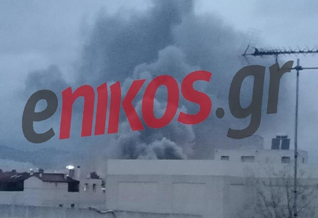 Μεγάλη πυρκαγιά σε αποθήκη στον Βοτανικό (VIDEO)