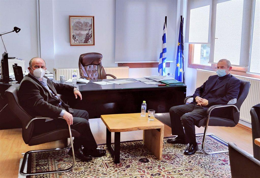 Συνάντηση Ηλ. Χατζηχριστοδούλου με τον Δήμαρχο Δίου – Ολύμπου