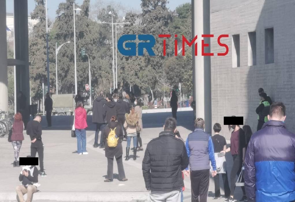 Θεσσαλονίκη: Στην ουρά για rapid test (ΦΩΤΟ+VIDEO)