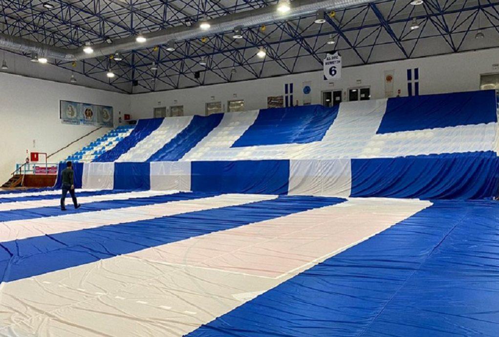 Σαντορίνη: Ετοιμάζουν Ελληνική Σημαία για Ρεκόρ Γκίνες την 25η Μαρτίου