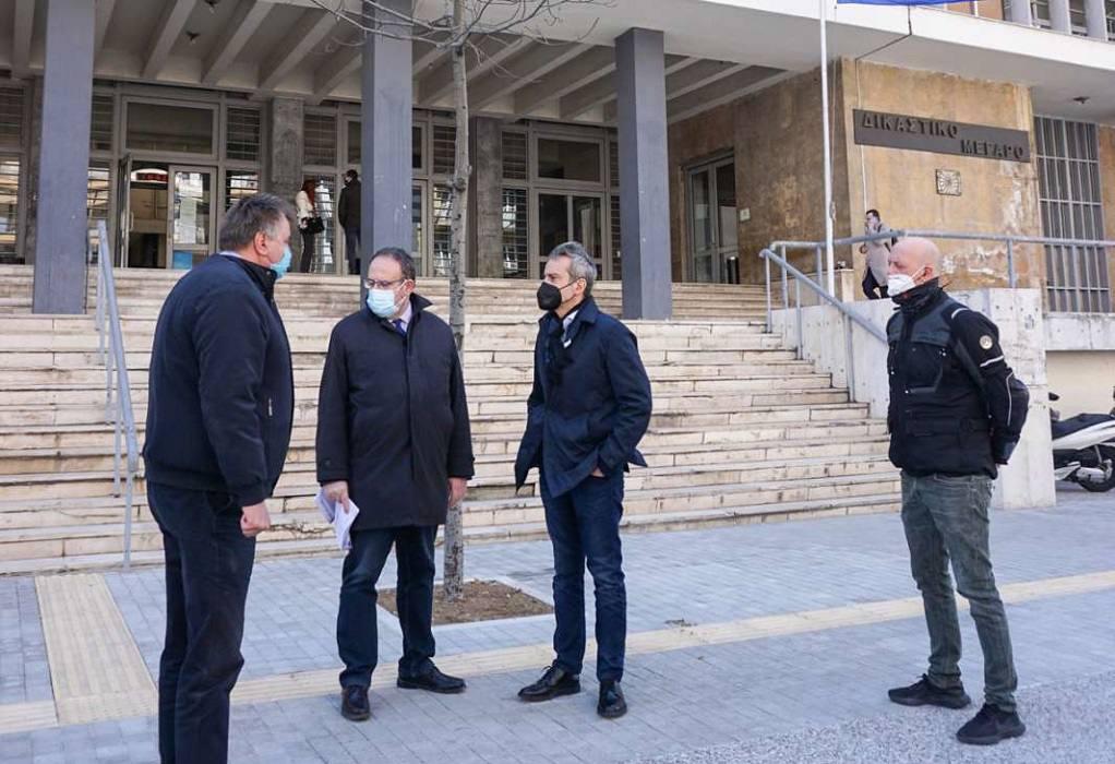 Σε χρόνο ρεκόρ τα έργα πέριξ του Δικαστικού Μεγάρου – Επιθεώρηση Ζέρβα