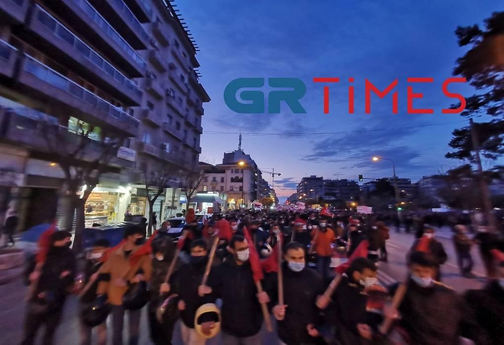 Θεσσαλονίκη: Πορεία διαμαρτυρίας εναντίον της αστυνομοκρατίας (ΦΩΤΟ-VIDEO)