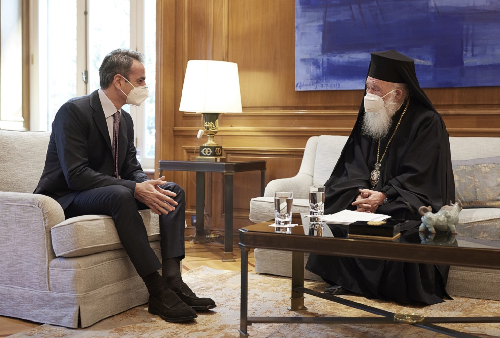 Η πανδημία στο επίκεντρο της συνάντησης Μητσοτάκη-Αρχιεπισκόπου