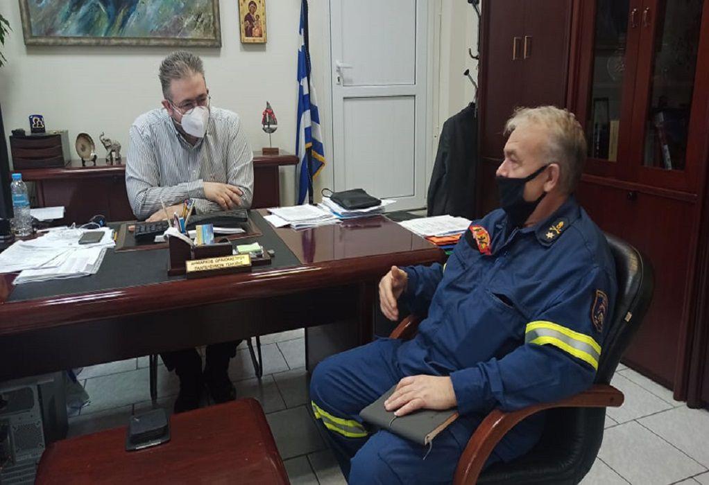 Συνάντηση Π. Τσακίρη με το νέο διοικητή Πυροσβεστικών Υπηρεσιών Θεσσαλονίκης