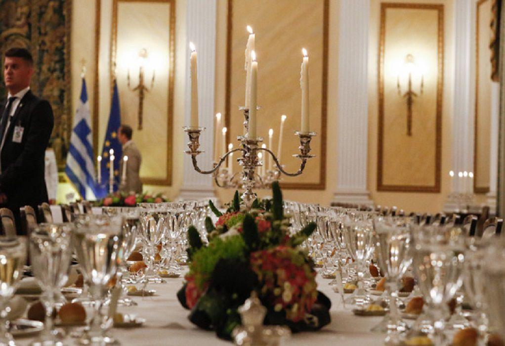 Τι θα φάνε οι ξένοι ηγέτες στο δείπνο στο Προεδρικό Μέγαρο