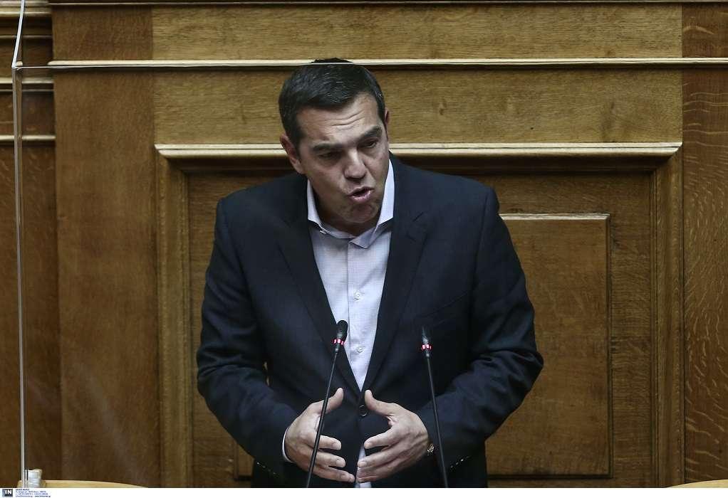 Αλ. Τσίπρας: «Απούσα η κυβέρνηση από τη Βουλή, απούσα και από το δράμα που ζει ο ελληνικός λαός»