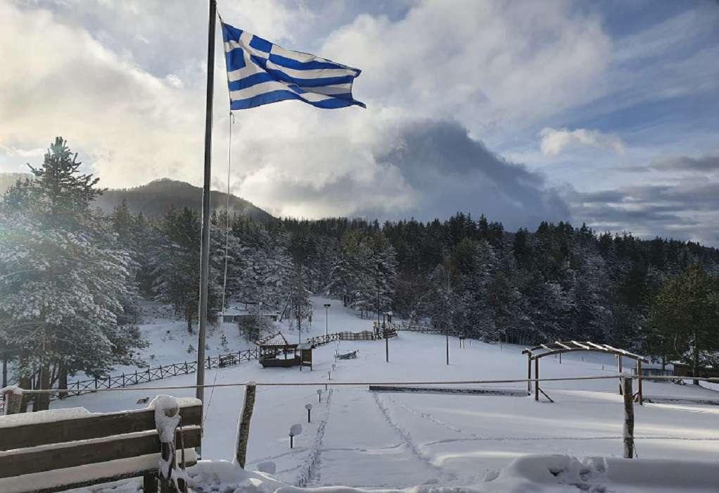 Χιόνισε και στα ορεινά της Ξάνθης (ΦΩΤΟ)