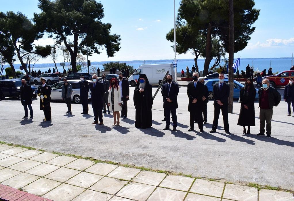 25η Μαρτίου-Δήμος Καλαμαριάς: Κατάθεση στεφάνων στο μνημείο Ηρώων
