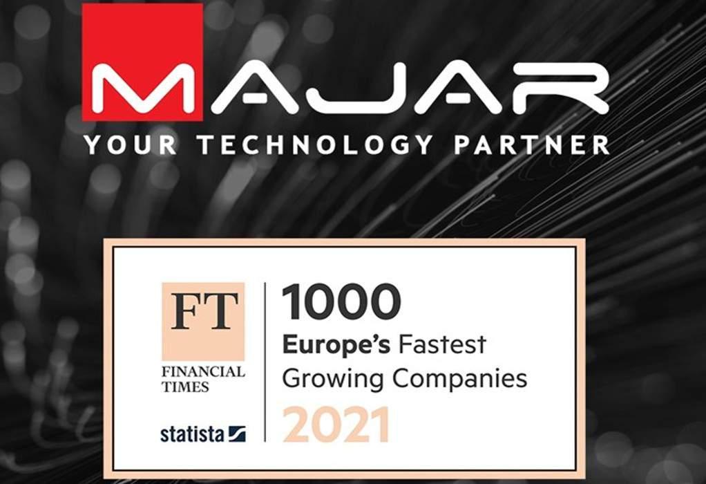 "H ""ΜΑJAR"" στις ταχύτερα αναπτυσσόμενες εταιρείες της Ευρώπης"
