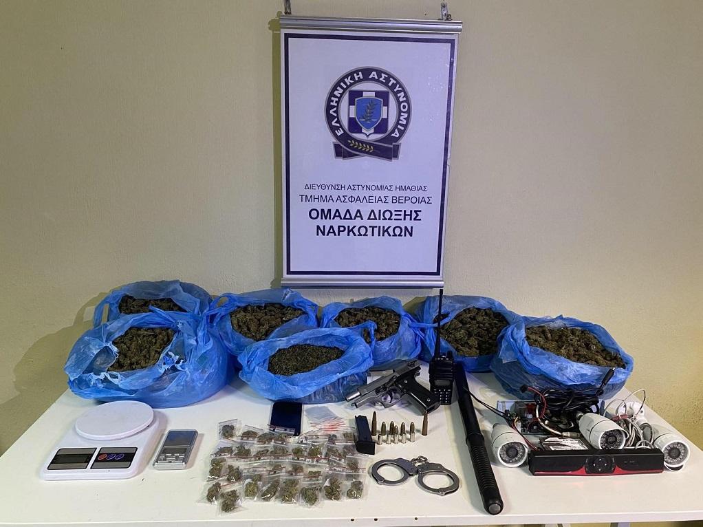 Θεσσαλονίκη: Συνελήφθη άνδρας με 6 κιλά κάνναβης και παράνομη οπλοκατοχή