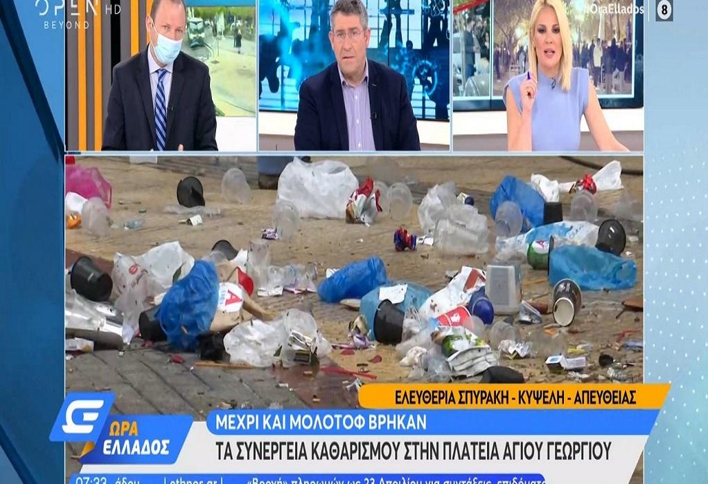 Κυψέλη: Ολονύχτιο πάρτι, τόνοι σκουπίδια και μολότοφ (VIDEO)