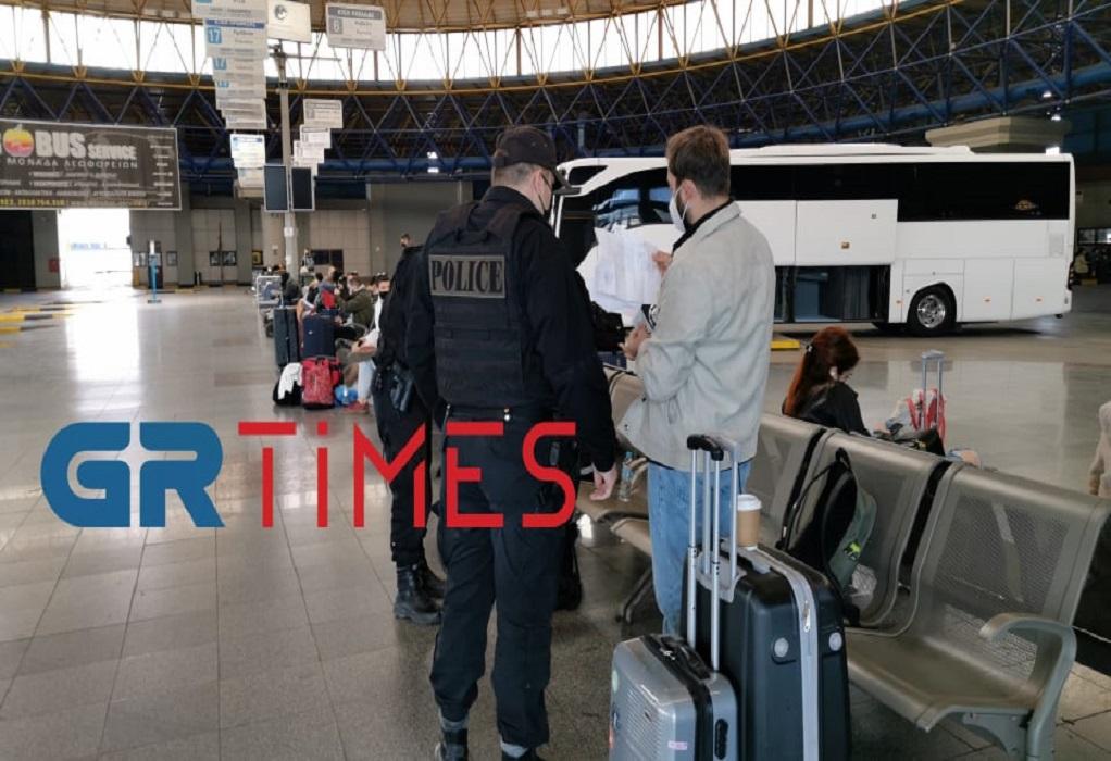 Πάσχα: «Σαρωτικοί» έλεγχοι στα ΚΤΕΛ Θεσσαλονίκης – «Μπλόκο» σε επίδοξους ταξιδιώτες (VIDEO)