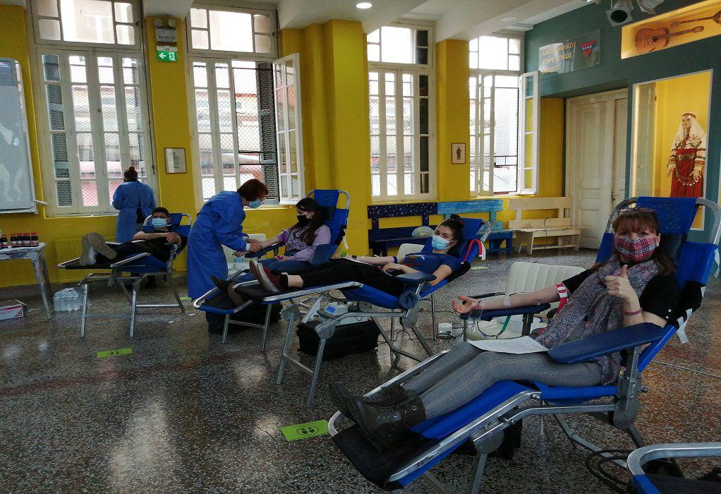 Ξεπέρασε κάθε προσδοκία η συμμετοχή στην εθελοντική αιμοδοσία της ΧΑΝΘ