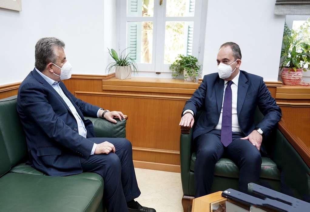 Συνάντηση Στ. Αρναουτάκη με τον Γ. Πλακιωτάκη (ΦΩΤΟ-VIDEO)