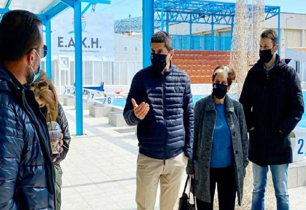 Νέο αθλητικό κέντρο Ηρακλείου αποκάλυψε ο Λ. Αυγενάκης