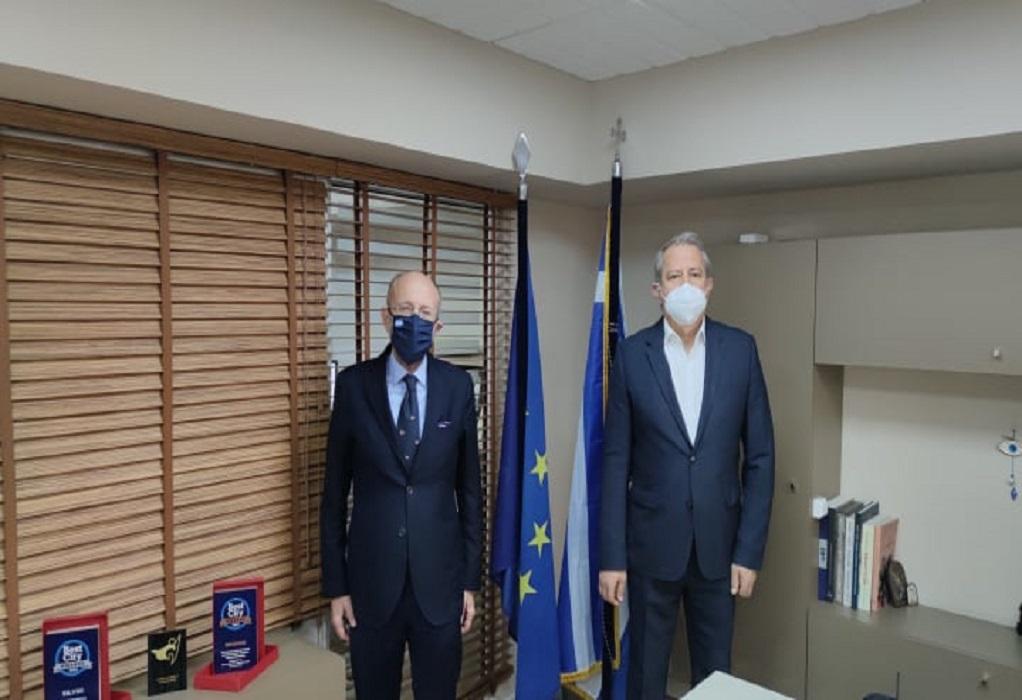 Επίσκεψη Δ. Βαρτζόπουλου στα γραφεία του ΦοΔΣΑ Κεντρικής Μακεδονίας