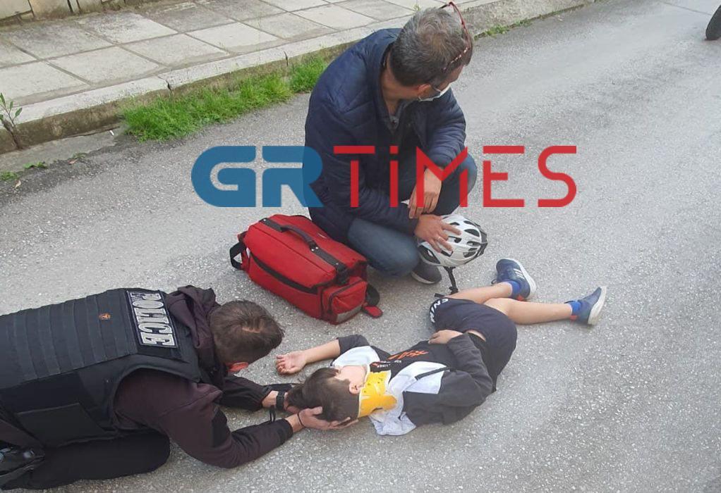Θεσ-νίκη: Σωτήρια επέμβαση αστυνομικού της ΔΙΑΣ για 13χρονο τραυματία τροχαίου (ΦΩΤΟ)