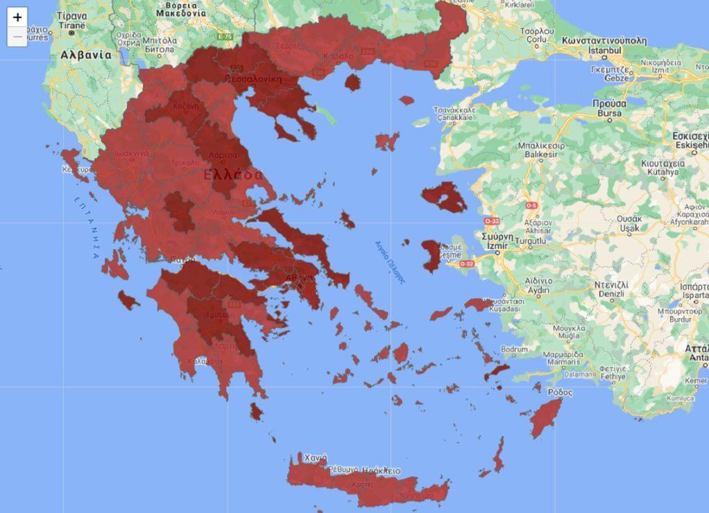 Πως διαμορφώνεται ο νέος επιδημιολογικός χάρτης της χώρας