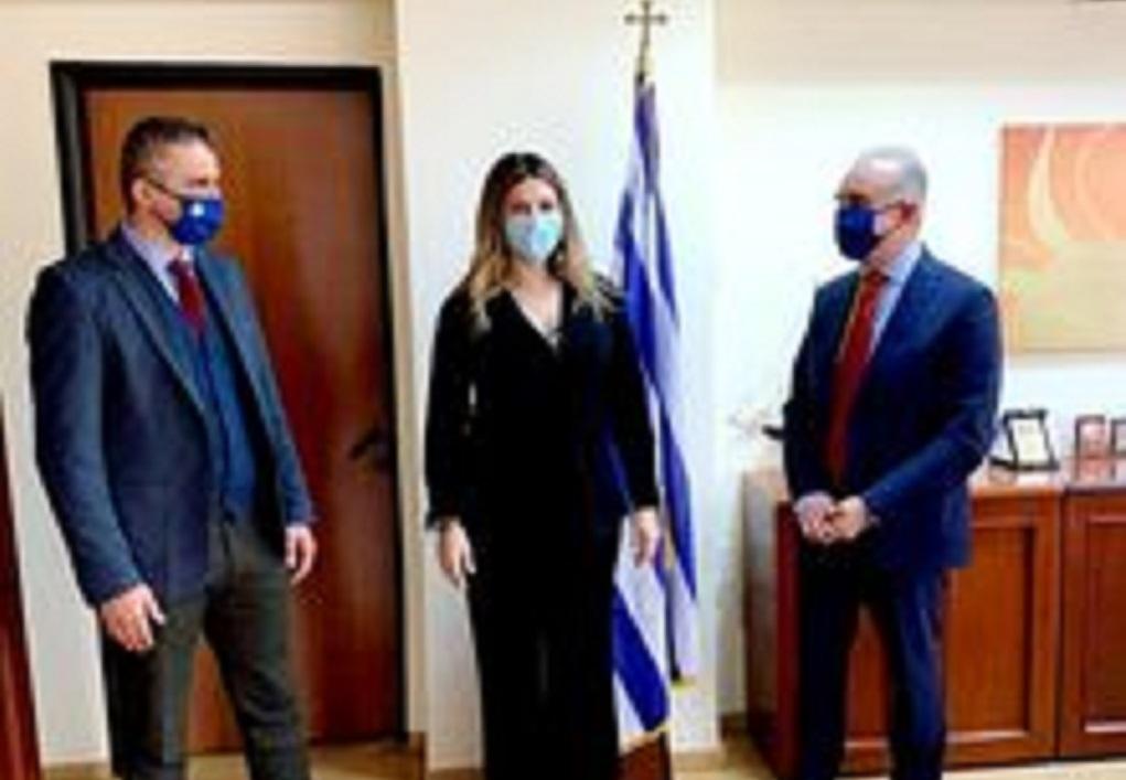 Συνάντηση της Σ. Ζαχαράκη με τον Δήμαρχο Θερμαϊκού