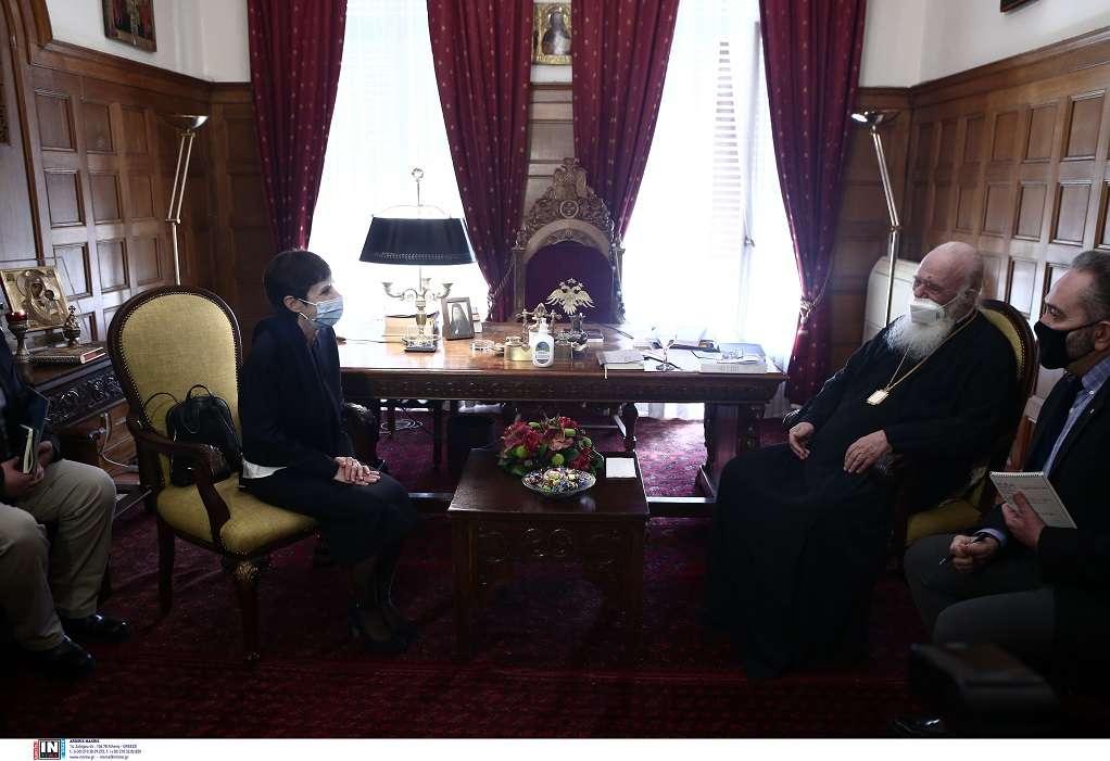 Συνάντηση Αρχιεπισκόπου Ιερώνυμου με τη νέα επικεφαλής του γραφείου Ύπατης Αρμοστείας του ΟΗΕ στην Ελλάδα