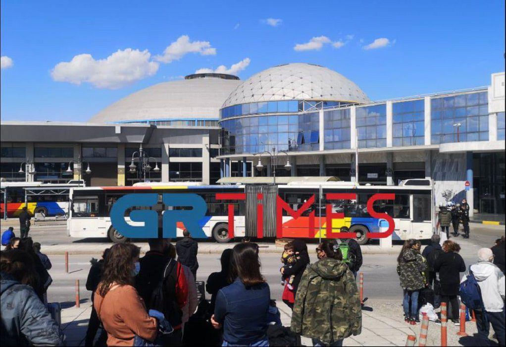 Λήξη συναγερμού στα ΚΤΕΛ Μακεδονία – Φάρσα το τηλεφώνημα για βόμβα (VIDEO)