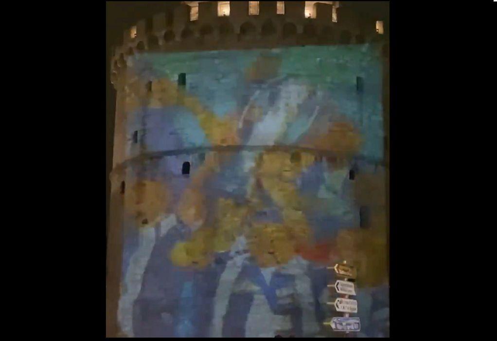 ΠΑΟΚ: To βίντεο των γενεθλίων προβλήθηκε στον Λευκό Πύργο (VIDEO)