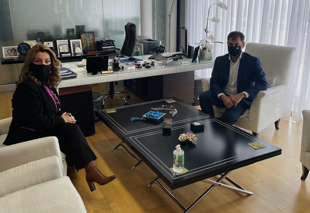 Στο Υπουργείο Τουρισμού η Μαρία Αντωνίου (ΦΩΤΟ)