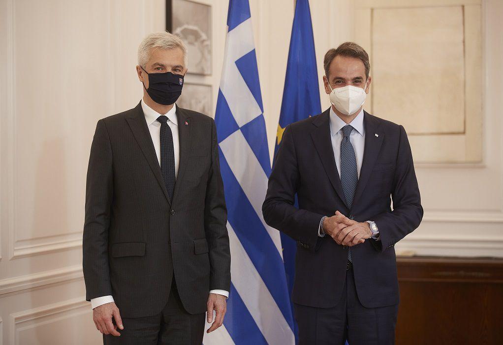 Μητσοτάκης και Κόρτσοκ εξέτασαν την ενίσχυση της διμερούς συνεργασίας Ελλάδας-Σλοβακίας