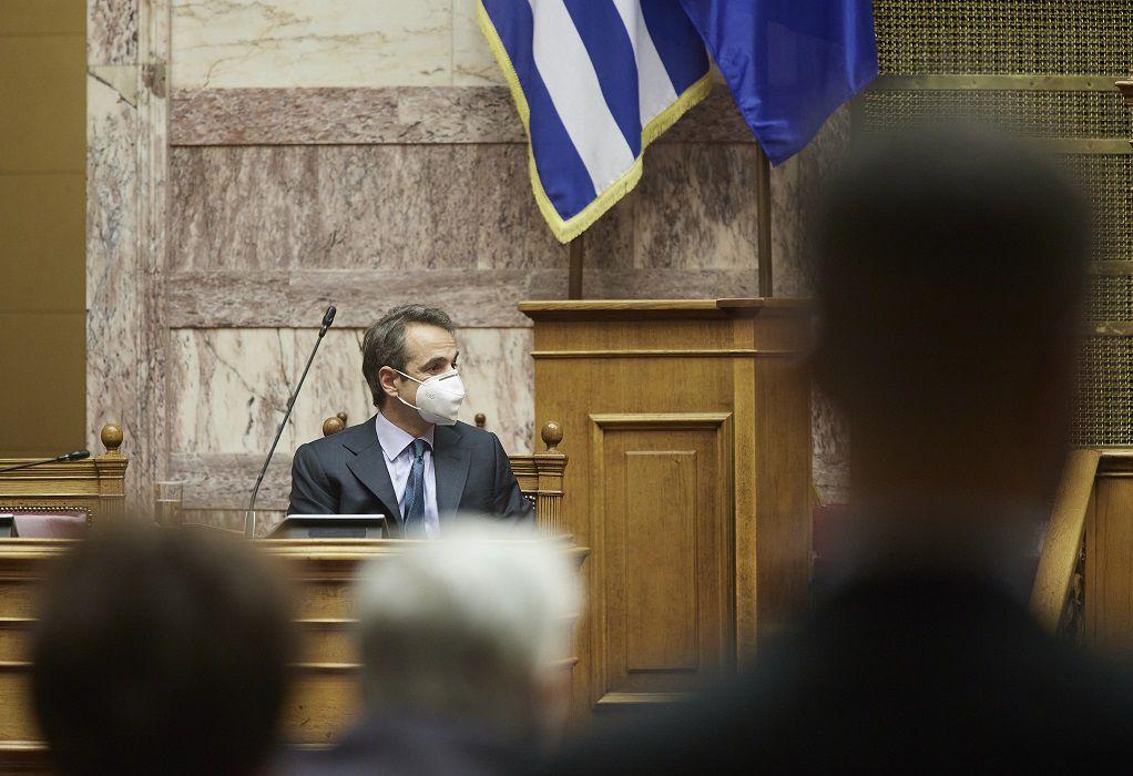 Στη Βουλή αύριο ο Κυρ. Μητσοτάκης σε συζήτηση για την πανδημία