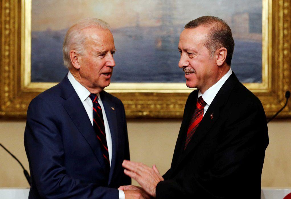 Μπάιντεν: Τις τουρκικές προκλήσεις στη Μεσόγειο θα θέσει σε Ερντογάν