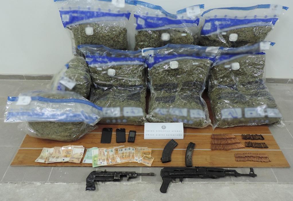 Δραμα: Τρεις συλλήψεις για μεταφορά ναρκωτικών και όπλων