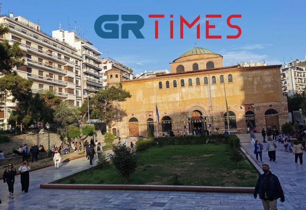 Η περιφορά του Επιταφίου από τον Ι.Ν. της Του Θεού Σοφίας Θεσσαλονίκης (VIDEO)
