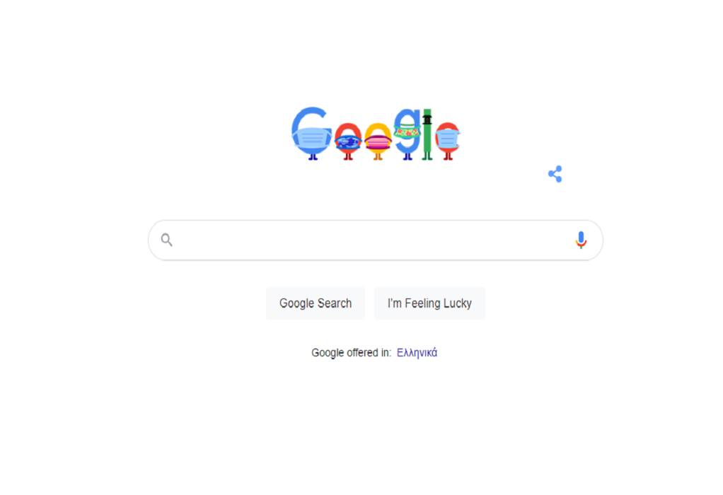 «Φορέστε μάσκα. Σώστε ζωές», το μήνυμα του Google Doodle